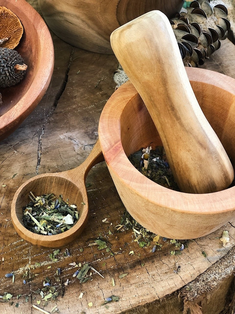 Large Mortar and Pestle